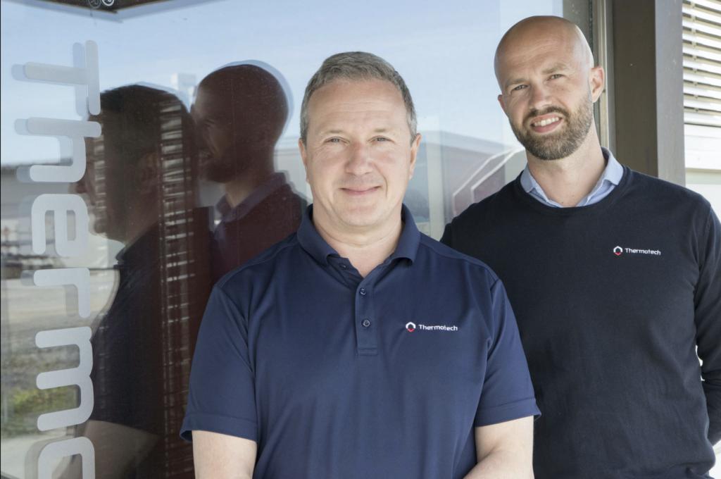 Anders Andersson och Erik Årdahl menar att Thermotech har en helt annan ordning på sin IT-miljö sedan de började anlita TeamNorr. Något som skapar mindre irritation hos personalen.